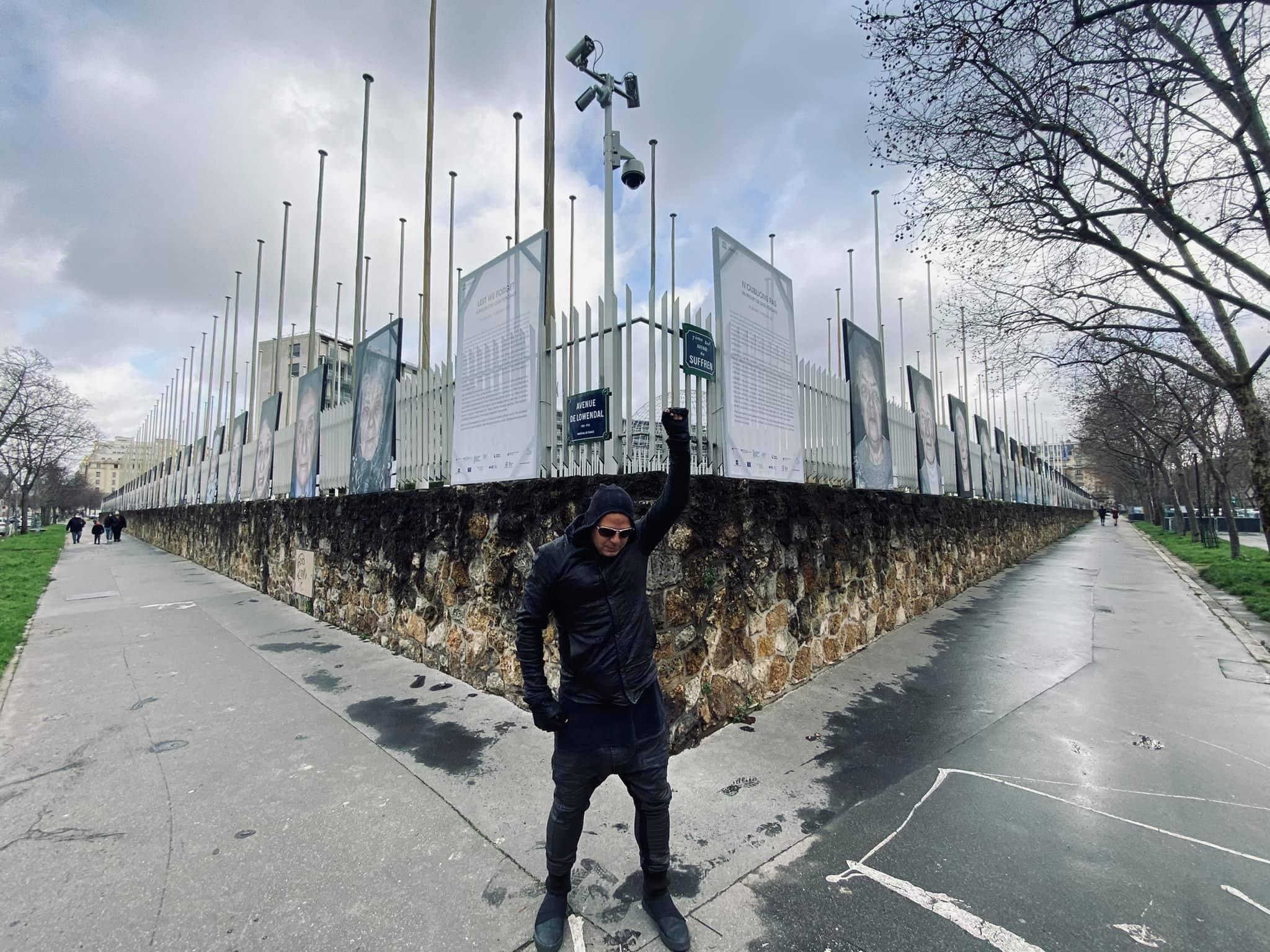 Der Außenbereich des Pariser UNESCO-Hauptquartiers