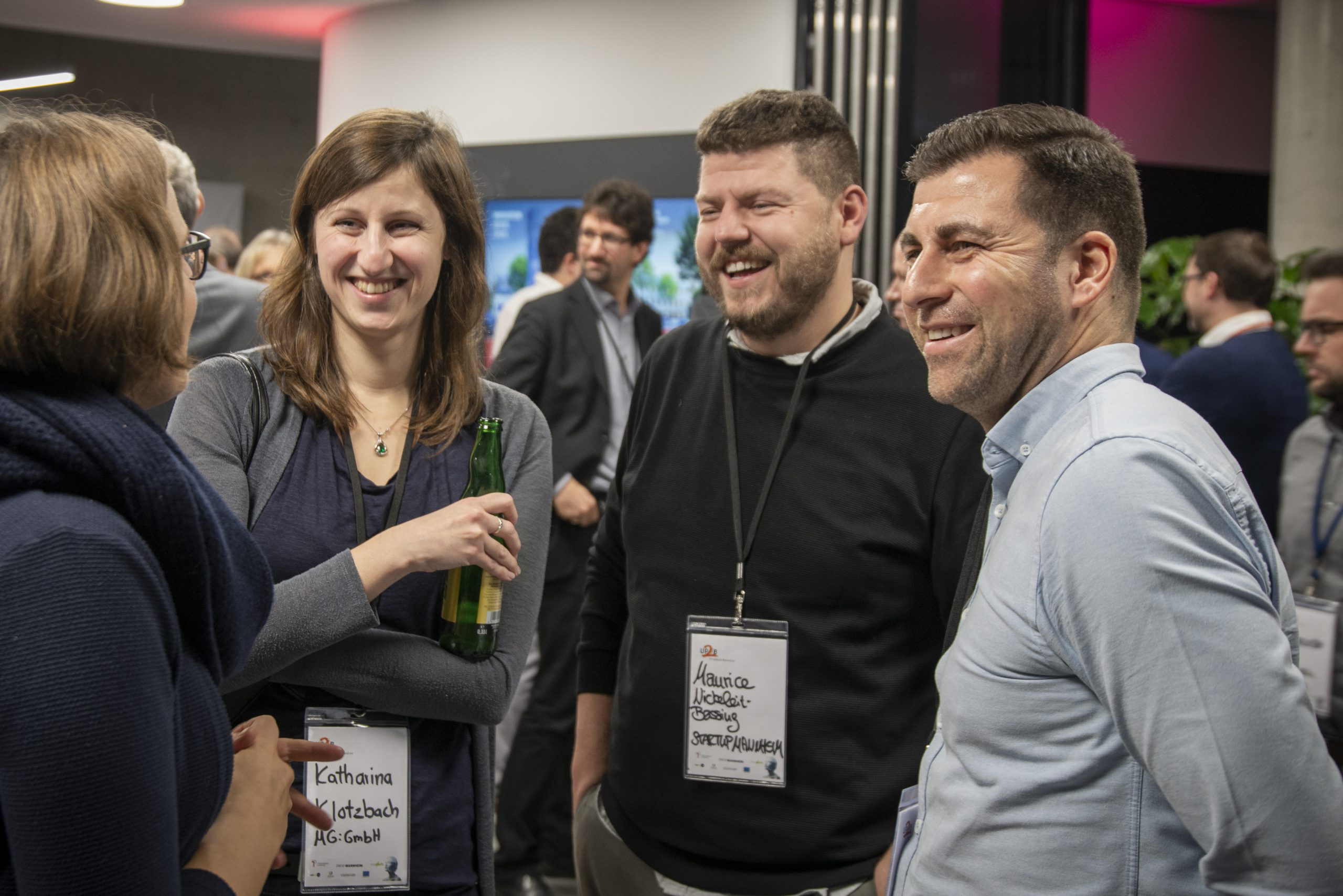 v.l. Anna Hüttl, Katharina Klotzbach, Maurice Nickeleit-Bessing, Burak Bas - Up2B Event Finale 2019