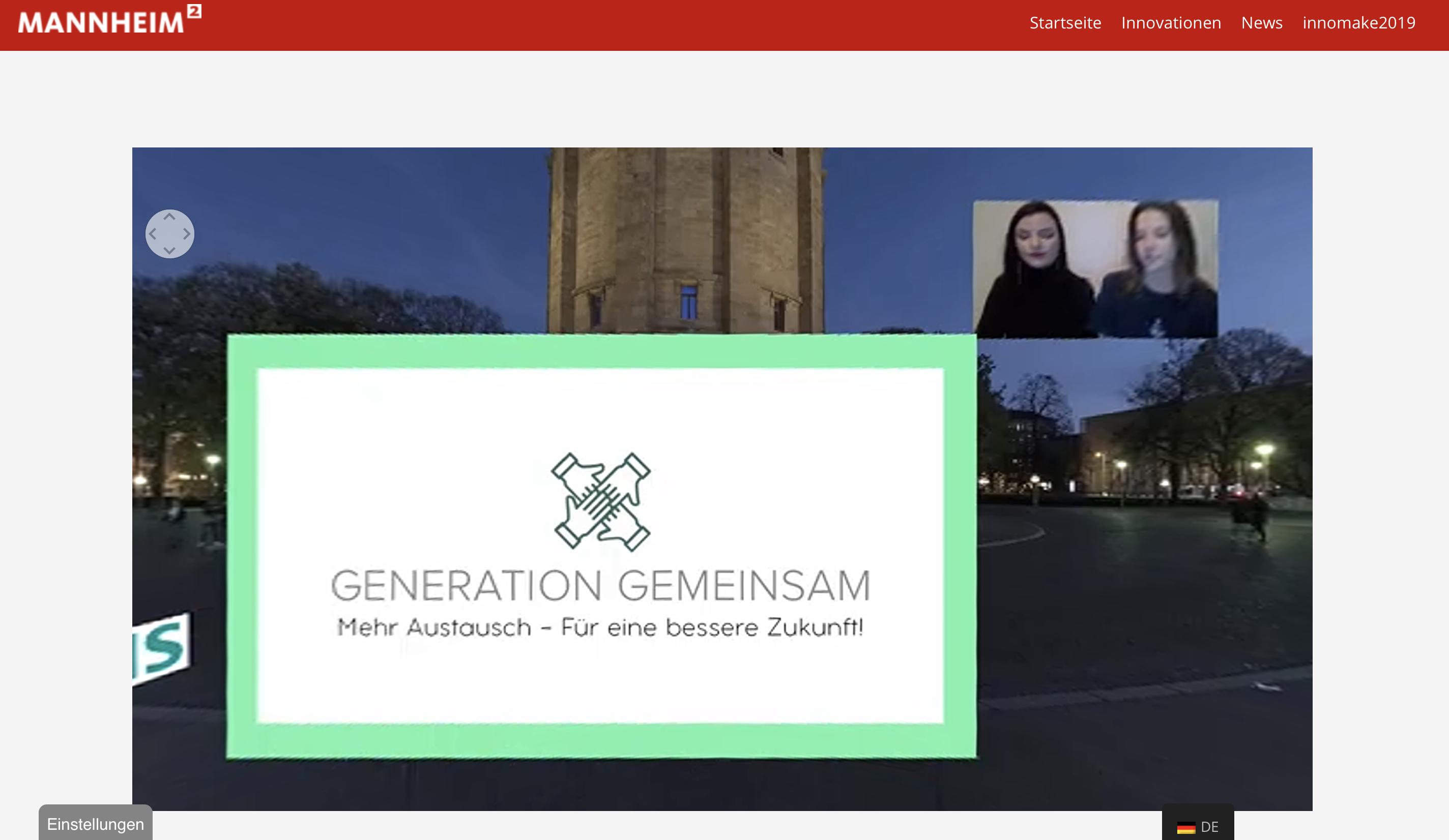 Anna Lachhammer und Elena Volz, Studentinnen an der Mannheimer Popakademie, präsentierten ihr Projekt